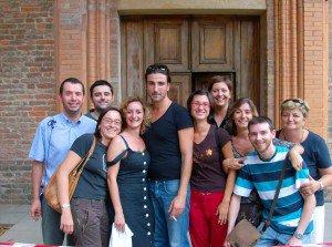 foto di gruppo con il regista, evidentemente... Canadese