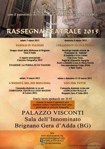 Locandina rassegna teatrale 2015 grande